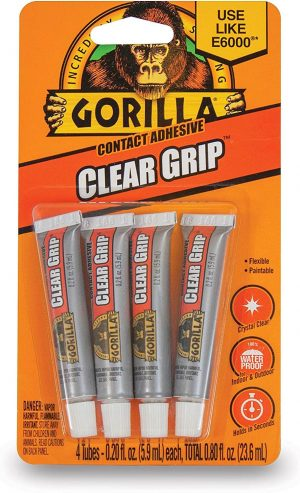 Gorilla Clear Grip Contact Adhesive – Quick Drying Super Glue