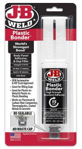 J-B Weld 50139 Plastic Bonder Body Panel Adhesive and Gap Filler Syringe