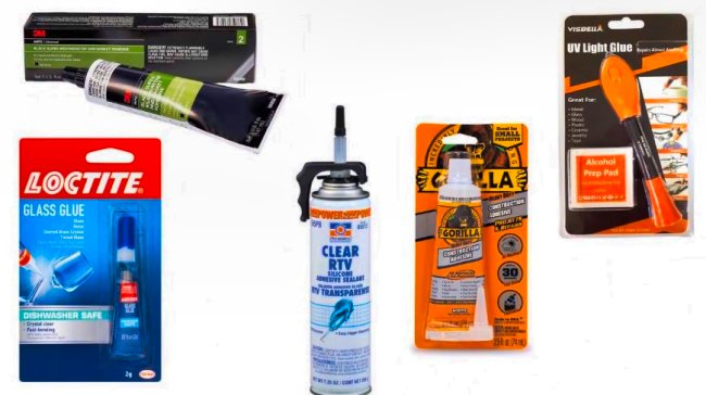Glues for Mirrors
