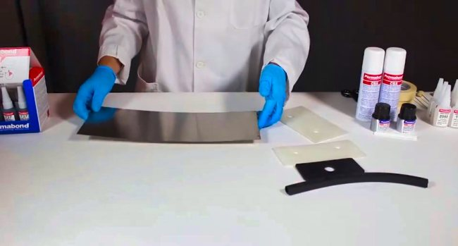 Gluing Rubber to Metal