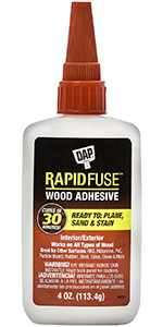 DAP 00157 Rapid Fuse Fast Ready to Plane Sand and Stain Woodwork Glue
