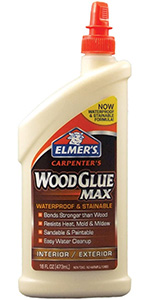 Elmer's Carpenter's Wood Glue Non-Toxic Heat-Resistant Easy-to-Clean